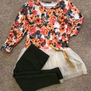 Other - Floral tulle tunic, dress